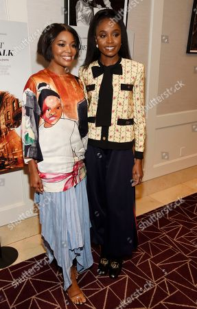 """Gabrielle Union, KiKi Layne. Actress Gabrielle Union, left, and KiKi Layne, a cast member in """"If Beale Street Could Talk,"""" pose together at a special screening of the film at the London Hotel, in West Hollywood, Calif"""