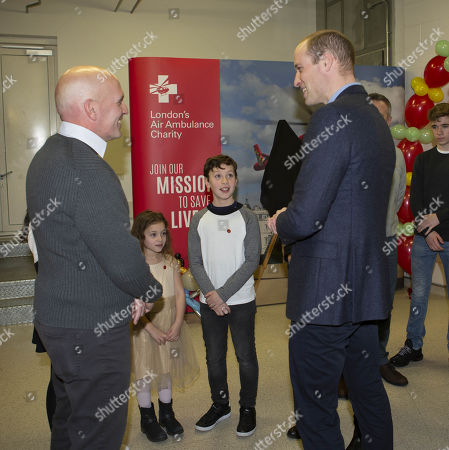 Prince William meets Yair Shaahar who's life was saved by the Air Ambulance
