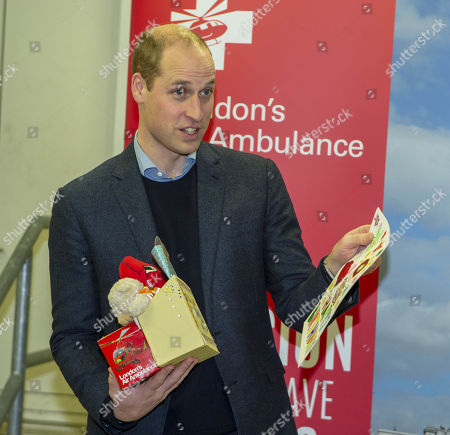 Editorial photo of Prince William arrives at the Royal London Hospital aboard an air ambulance, UK - 09 Jan 2019