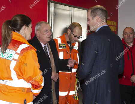 Editorial image of Prince William arrives at the Royal London Hospital aboard an air ambulance, UK - 09 Jan 2019
