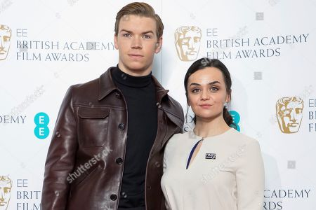 Will Poulter, Hayley Squires. Actors Will Poulter, left, and Hayley Squires pose for photographers following the BAFTA Film Awards nominations announcement in London, . The film The Favourite leads the race with 12 nominations at the awards taking place in London on February 10