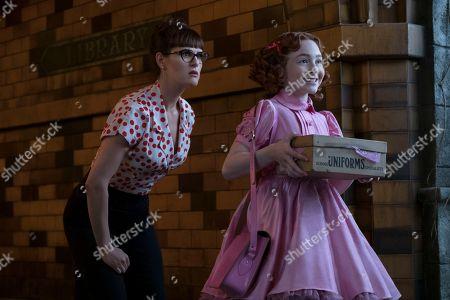 Sara Rue as Olivia Caliban and Kitana Turnbull as Carmelita Spats