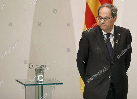 Editorial picture of Torra announces the winner of Catalonia International Prize, Barcelona, Spain - 09 Jan 2019