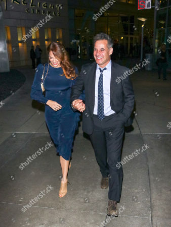 Stock Photo of Amanda Righetti and Adrian Pasdar