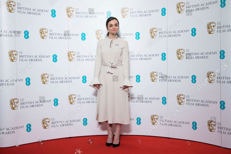 Stock Photo of Hayley Squires poses for photographers following the BAFTA Film Awards nominations announcement in London