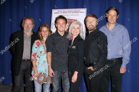 Stock Image of Benny Andersson, Helen Sjoholm, Kevin Odekirk, Louise Pitre, Bjorn Ulvaeus, Lars Rudolfsson