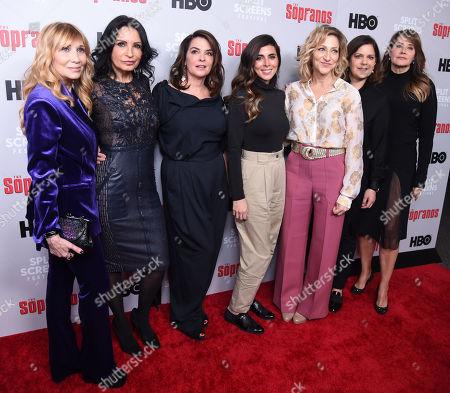 Maureen Van Zandt, Kathrine Narducci, Annabella Sciorra, Jamie-Lynn Sigler, Edie Falco, Ilene S. Landress and Lorraine Bracco