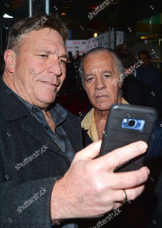 Tony Sirico takes a selfie with a fan