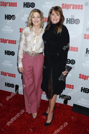 Edie Falco and Lorraine Bracco