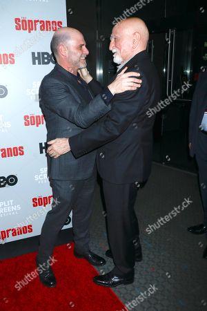 Matthew Weiner and Dominic Chianese