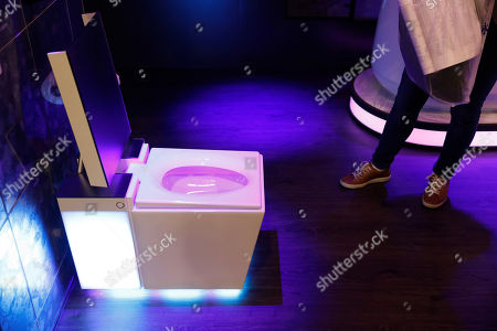 Stock Image of The Numi 2.0 intelligent toilet with Amazon Alexa is on display at the Kohler booth at CES International, in Las Vegas