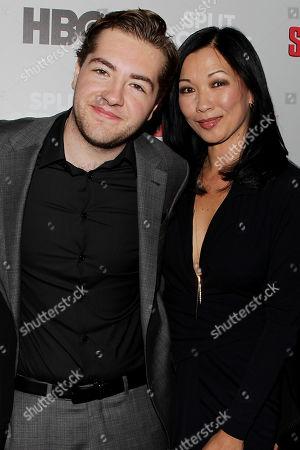 Stock Image of Michael Gandolfini and Deborah Lin