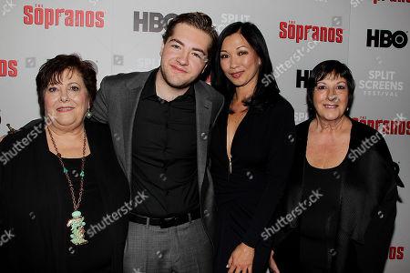 Michael Gandolfini and Deborah Lin with James Gandolfinis sisters
