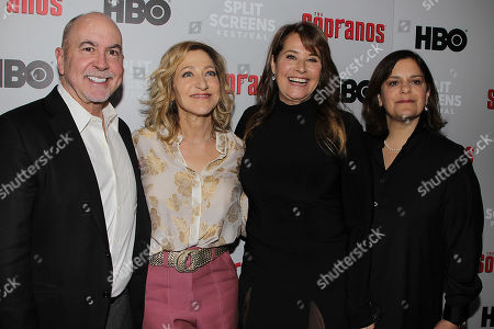 Terence Winter, Edie Falco, Lorraine Bracco and Ilene S. Landress