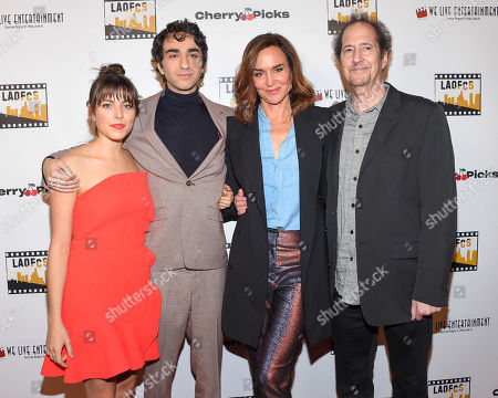 Alex Wolff, Polly Draper and Michael Wolff