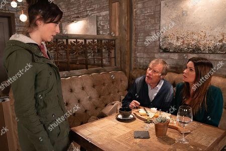 Ep 9674 Wednesday 23 January 2019 - 1st Ep Over lunch in the bistro, Roy Cropper, as played by David Neilson, and Carla Connor, as played by Alison King, reminisce about Hayley but they're interrupted by Shona Ramsey, as played by Julia Goulding, who tells Roy that Sylvia's been taken seriously ill.