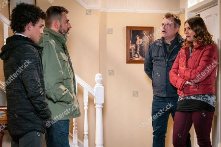 Ep 9675 Wednesday 23 January 2019 - 2nd Ep When Steve McDonald, as played by Simon Gregson, reveals his suspicions about Simon Barlow, as played by Alex Bain, Tracy McDonald, as played by Kate Ford, reads a text from Simon on Amy's phone and sets off on the warpath. In front of Peter Barlow, as played by Chris Gascoyne, Tracy accuses Simon of getting Amy pregnant. Simon denies it but it's clear he's hiding something.