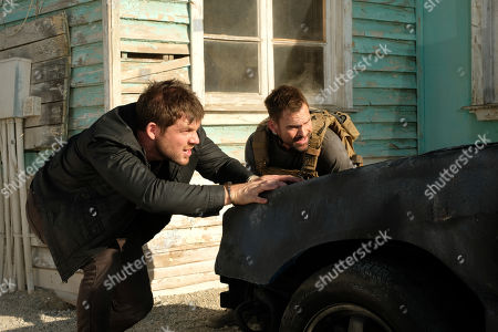 Stock Picture of Seann William Scott as Wesley Cole and Lindsay Farris as Joshua
