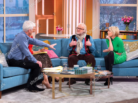 Stock Image of Phillip Schofield and Holly Willoughby with Antony Worrall Thompson and Heather Mills