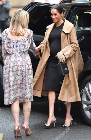 Meghan Duchess of Sussex and Kate Stephens, Smart Works' CEO