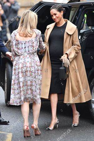 Stock Picture of Meghan Duchess of Sussex and Kate Stephens, Smart Works' CEO