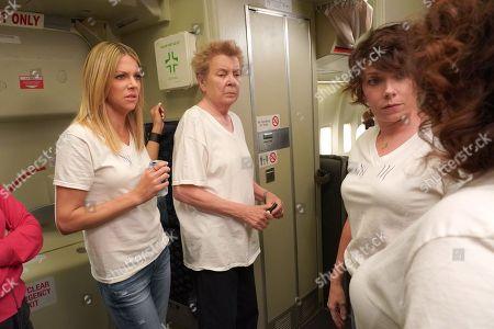 Stock Image of Kaitlin Olson as Dee, Sandy Martin as Mrs. Mac, Mary Elizabeth Ellis as The Waitress and Artemis Pebdani as Artemis
