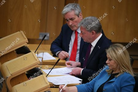 Scottish Parliament First Minister's Questions - Iain Gray, Richard Leonard, Leader of the Scottish Labour Party, and Pauline McNeill