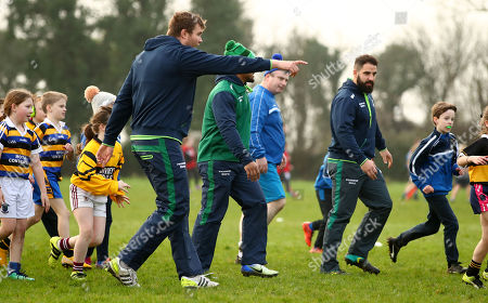 Connacht Rugby today visited Gort RFC for a National School Blitz that was attended by 450 children. Pictured are James Cannon and Peter McCabe