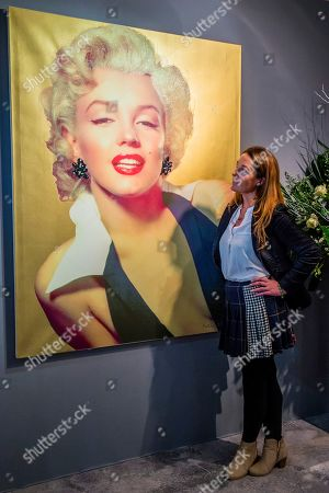 Marilyn by Sir Peter Blake, £19,900, from the Tanya Baxter Contemporary, and other works - The Mayfair Antiques & Fine Art Fair, London Marriott Hotel Grosvenor Square.