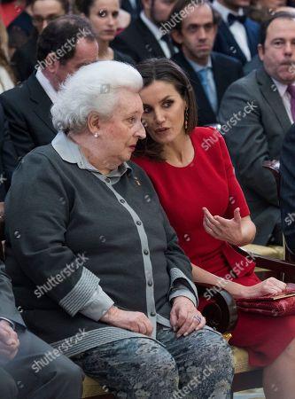 Infanta Pilar and Queen Letizia