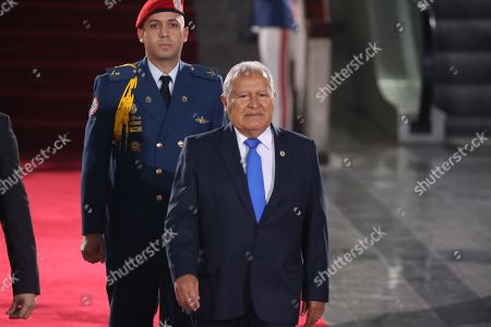 President of El Salvador, Salvador Sanchez Ceren, attends the swearing-in ceremony of the President of Venezuela Nicolas Maduro for the second term, in Caracas, Venezuela, 10 January 2019. Maduro took the second term oath of office before the Supreme Court of Justice (TSJ) accompanied by six other heads of state, who are the only ones present for the second-term inauguration opposed to by opponents and good part of the international community.