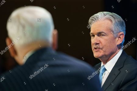 David Rubenstein, Jerome Powell. Federal Reserve Board Chair Jerome Powell, left, talks with Carlyle Group co-CEO David Rubenstein during the Economic Club of Washington luncheon, in Washington