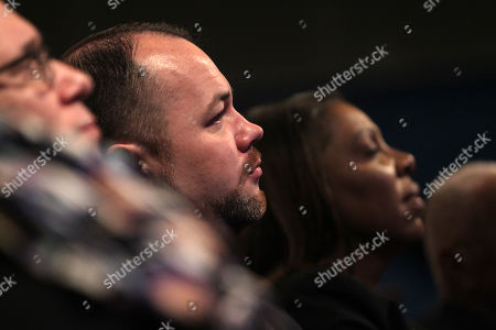 New York City Council Speaker Corey Johnson looks on as New York City Mayor Bill de Blasio with an introduction by New York First Lady Chirlane McCray, delivers the 2019 State of the City Address to New Yorkers and Elected Officials in attendance held at Symphony Space