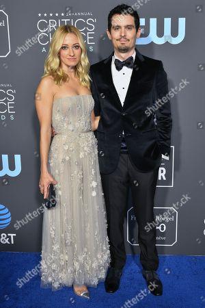 Stock Image of Olivia Hamilton and Damien Chazelle