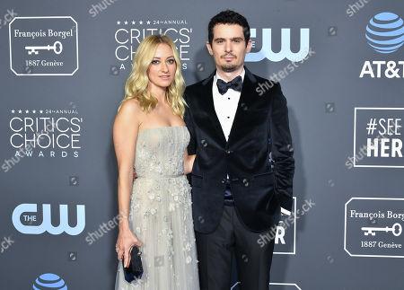 Stock Photo of Olivia Hamilton and Damien Chazelle