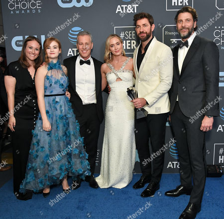 Stock Photo of Allyson Seeger, Millicent Simmonds, Brad Fuller, Emily Blunt, John Krasinski and Andrew Form