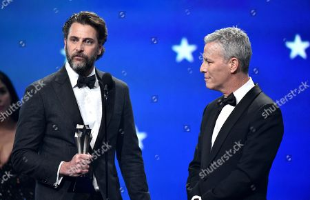 Stock Image of Andrew Form and Bradley Fuller - Best Sci-Fi/Horror Movie - 'A Quiet Place'