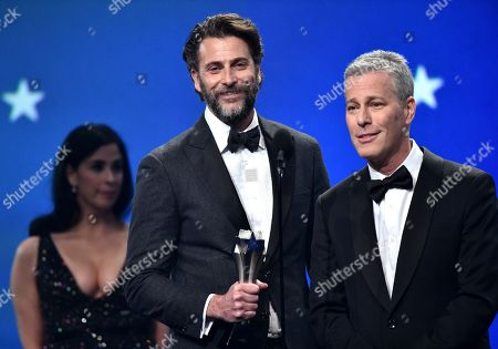 Stock Picture of Andrew Form and Bradley Fuller - Best Sci-Fi/Horror Movie - 'A Quiet Place'