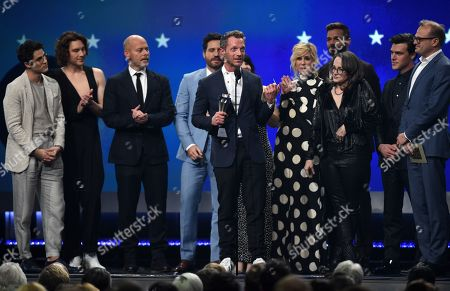 Darren Criss, Cody Fern, Daniel Minahan, Alexis Martin Woodall, Tom Rob Smith, Ricky Martin, Nina Jacobson, Finn Wittrock, and Brad Simpson - Best Limited Series - 'The Assassination of Gianni Versace: American Crime Story'