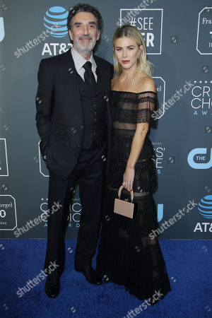 Stock Picture of Chuck Lorre and Arielle Mandelson