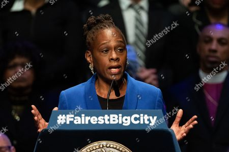 Editorial photo of State of the City address at Symphony Space, New York, USA  - 10 Jan 2019