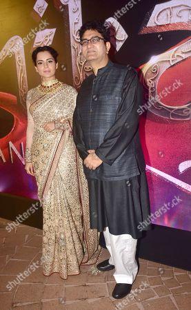 Kangana Ranaut with Prasoon Joshi