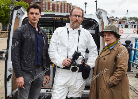 Kenny Doughty as DS Aiden Healy, Paul Kaye as Malcolm Donahuem and Brenda Blethyn as DCI Vera Stanhope.