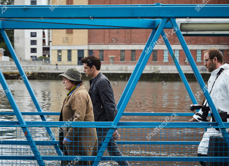 Brenda Blethyn as DCI Vera Stanhope, Kenny Doughty as DS Aiden Healy and Paul Kaye as Malcolm Donahuem.