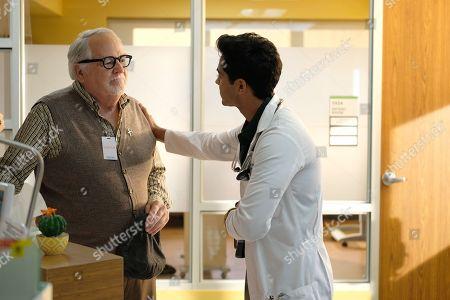 Stock Image of Dakin Matthews as Howie Green and Manish Dayal as Devon Pravesh