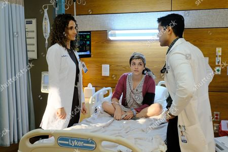 Melina Kanakaredes as Lane Hunter, Violett Beane as Lily Kendall and Manish Dayal as Devon Pravesh