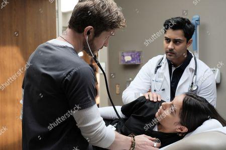 Matt Czuchry as Conrad Hawkins, Coral Pena as Louisa Rodriguez and Manish Dayal as Devon Pravesh