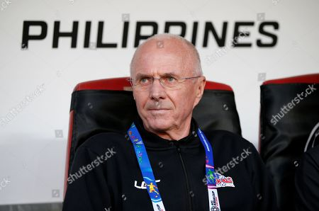 Sven-Goran Eriksson head coach of Philippines reacts during the 2019 AFC Asian Cup group C preliminary round match between Philippines and China in Abu Dhabi, United Arab Emirates, 11 January 2019.