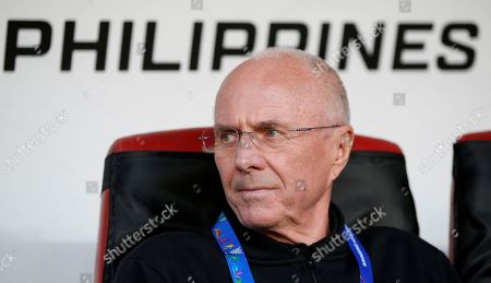 Sven-Goran Eriksson, head coach of the Philippines, reacts during the 2019 AFC Asian Cup group C preliminary round match between Philippines and China in Abu Dhabi, United Arab Emirates, 11 January 2019.