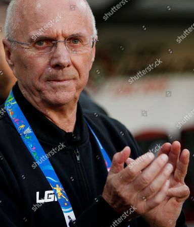 Stock Image of Sven-Goran Eriksson, head coach of the Philippines, reacts during the 2019 AFC Asian Cup group C preliminary round match between Philippines and China in Abu Dhabi, United Arab Emirates, 11 January 2019.